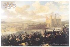 Battle in 1673 by the walls of the castle