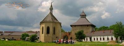 Panorama of the Medzhybizh castle.