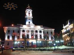 Chernivtsy City Hall at nigth