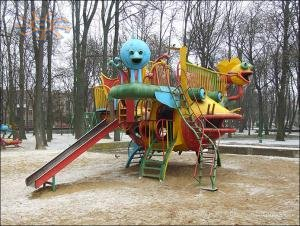 Children's playground in city park