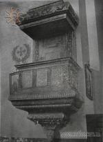 Троїцький костел у Меджибожі. Інтер єр. 1930 р. Фото Павла Жолтовського. 4da57de230adb