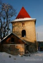 Bell-tower of st.Peter and Paul church in Berezhany, Ukraine