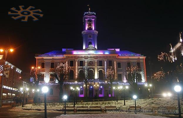Chernivtsy City Hall in winter-2010