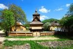 An old wooden church in Dilove, Western Ukraine