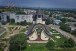 Contemporary church in Khodoriv, Ukraine