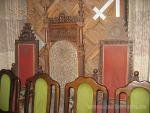 Old chairs in the University's church