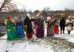 The ancient pagan ritual of Malanka in Ukraine (Buzovytsia in Chernivtsi region)