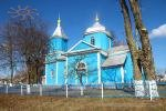 a wooden church in the village of Sarniv in Ukraine