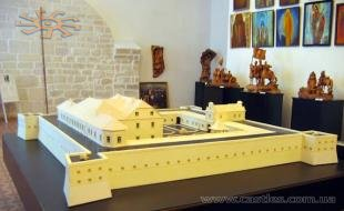 The model of the castle in one of the museum's rooms