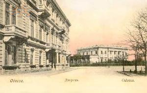 Old photo of Vorontsov's palace in Odesa