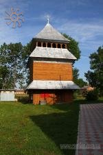 Bell-tower of the wooden church in the village of Vuzlove (Ukraine)